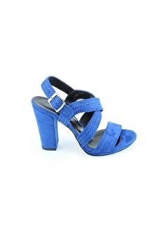 Modabuymus Modabuymus Çift Bantlı Dikiş Motifli Platform Kalın Topuklu Süet Kadın Ayakkabı